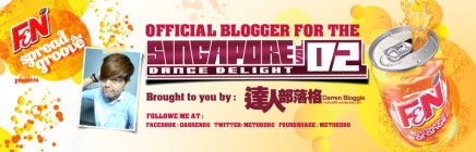 "Darren Bloggie Brings You Back ""LIVE"" To The Singapore Dance Delight Vol.2 Finals @ Wavehouse Sentosa with F&N!"