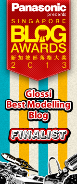 Finalist for Singapore Blog Awards 2013 Glossi Best Modeling Blog
