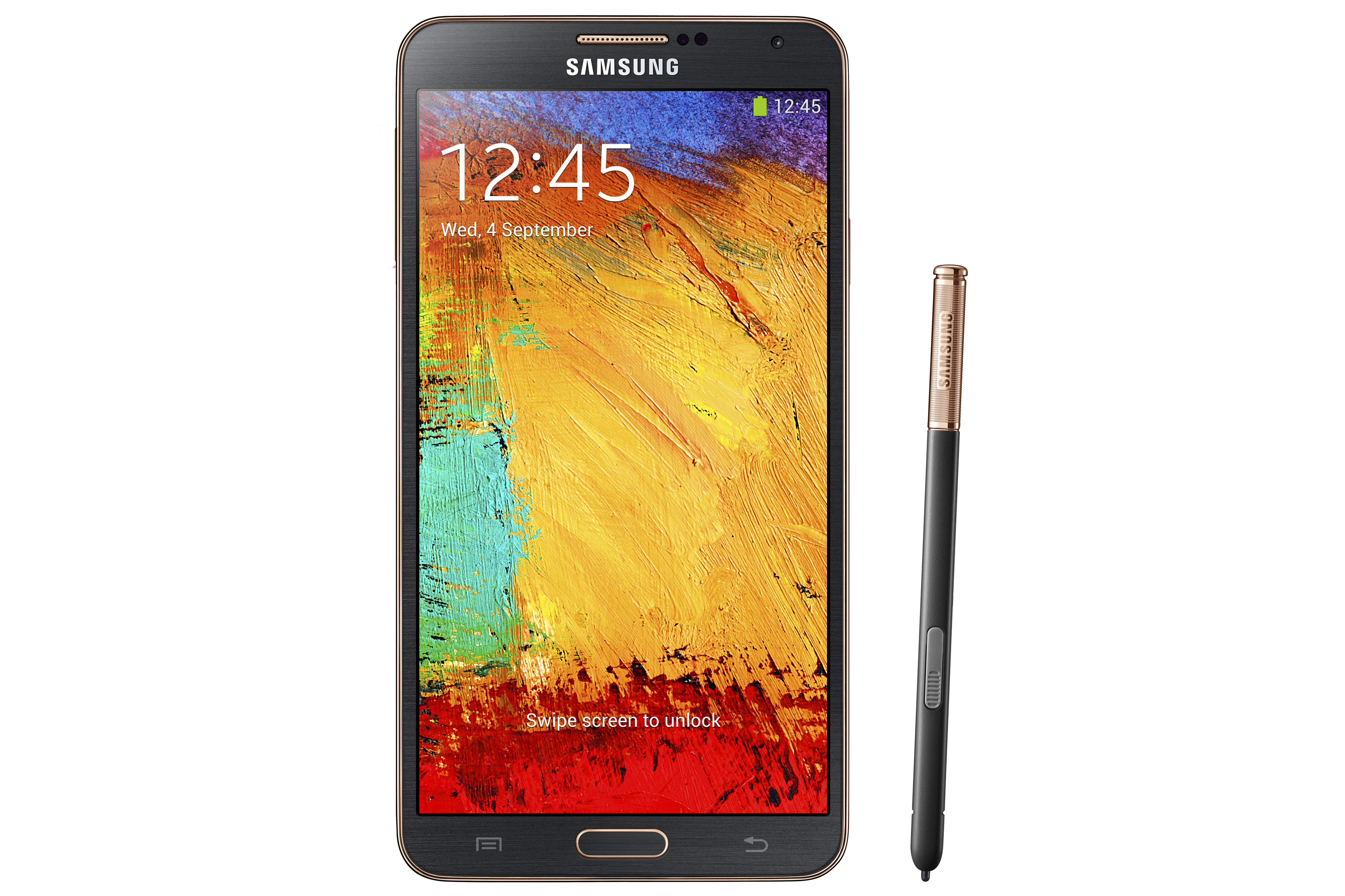 GALAXY Note 3 With LTE with S Pen_Rose Gold Black_Front