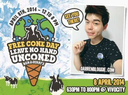See You at Ben & Jerry's Free Cone Day on 8 April 2014!