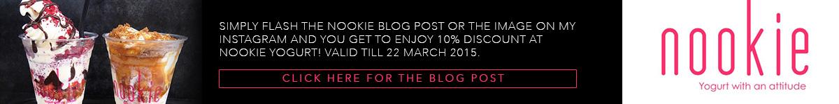 NOOKIE Yogurt Special Discount for Darren Bloggie Readers