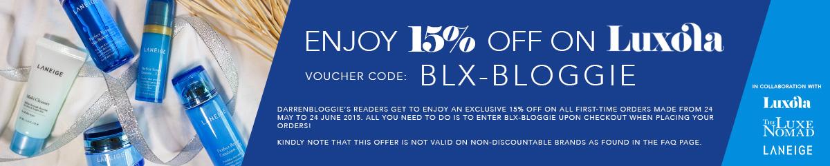 Luxola X Darrenbloggie Discount Code