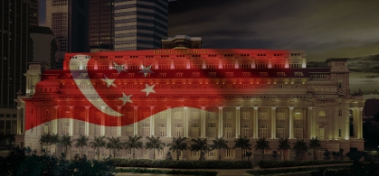 The Fullerton Hotel - The Singapore Flag (1)